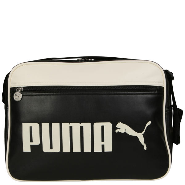 9861a29a98 Puma Men s Campus Reporter Bag - Black White  Image 1