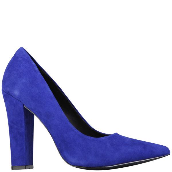 KG Kurt Geiger Women's Calista Suede Heeled Court Shoes - Blue