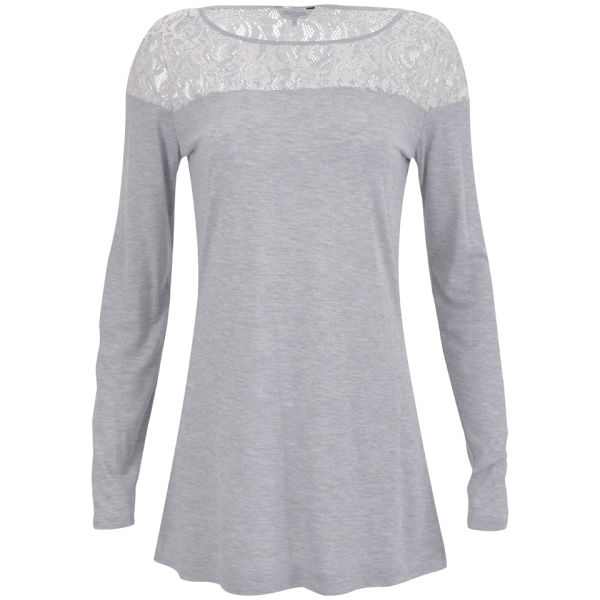 Great Plains Women's Olivia Lace T-Shirt - Marble Mel/Cream