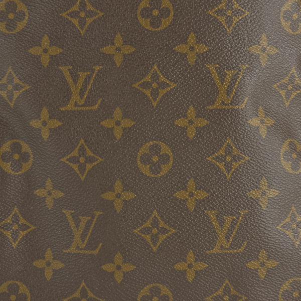 louis vuitton keepall leather logo bag - multi