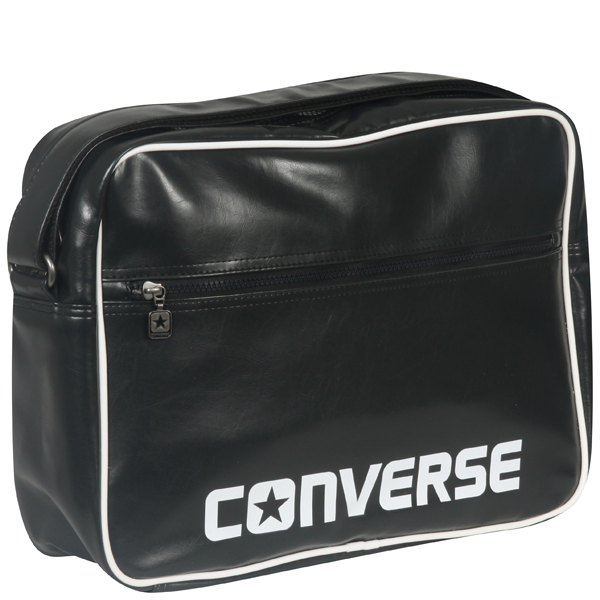 31b368bd03 Converse Player PU messenger bag in phantom black Mens Accessories ...