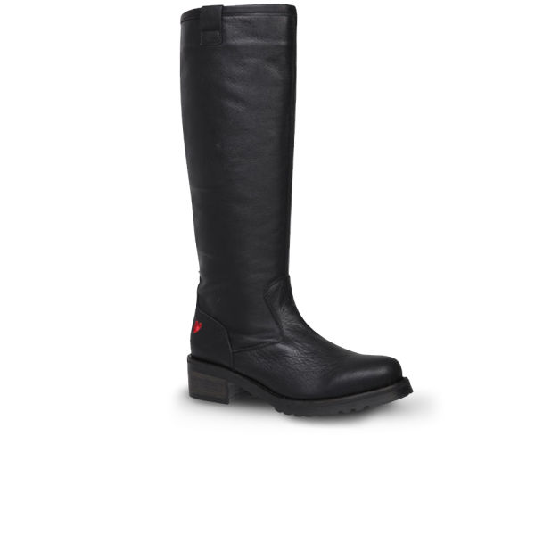 Love Moschino Women's 'Made In Italy' Leather Boots - Black