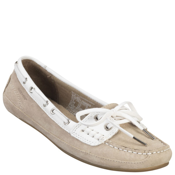 Sebago Women's Bala Boat Shoes - Taupe Suede/White
