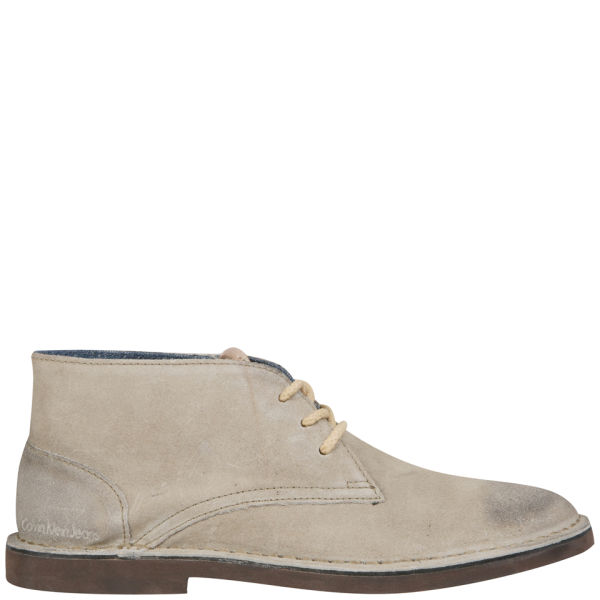CK Jeans Men's Henri Waxed Suede Chukka Boots - Light Taupe