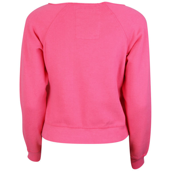 Tokyo Laundry Women's Long Sleeve Cropped Sweatshirt - Hot Pink ...