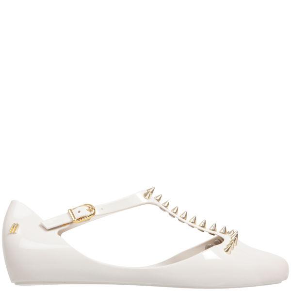 Melissa Women's Doris Spikes Flats - Vanilla