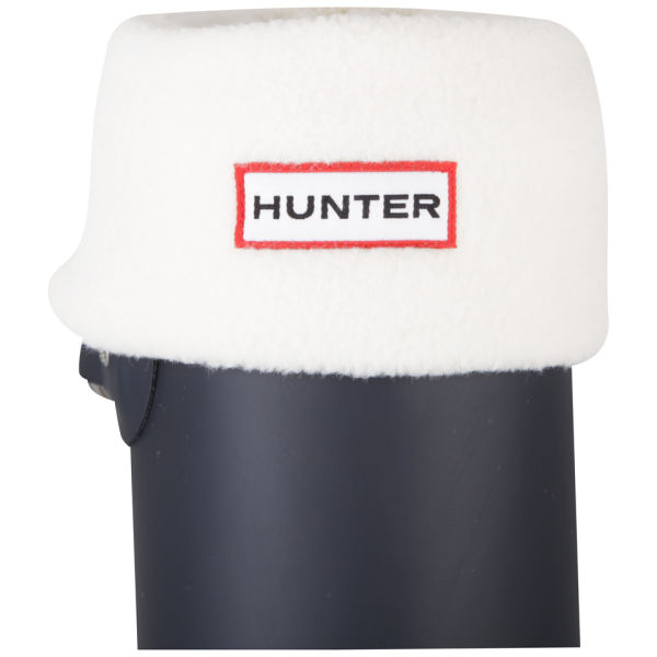 Hunter Women's Short Fleece Welly Socks - Cream