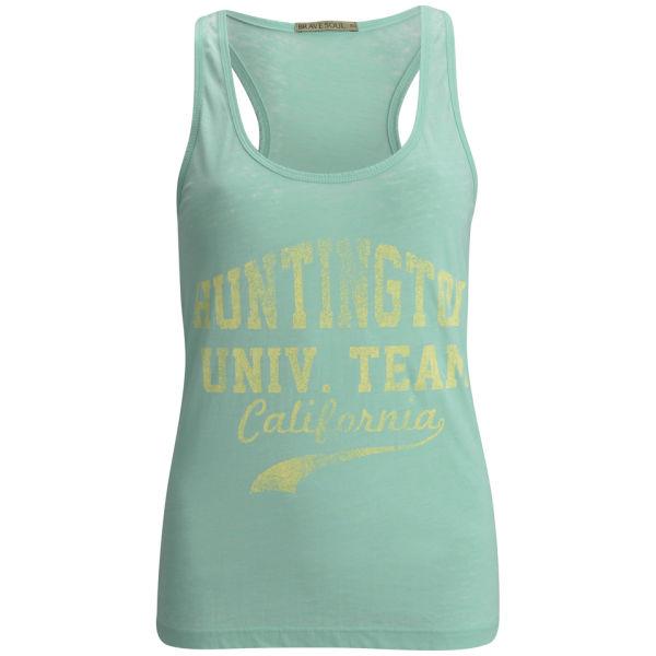 Brave Soul Women's Port Burnout Vest - Green