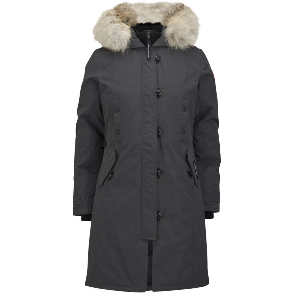 Canada Goose Women's Kensington Slim Fit Hooded Fur Trim Parka - Graphite