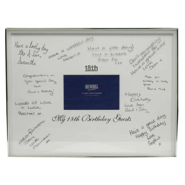 18th Birthday Signature Frame Traditional Gifts | Zavvi