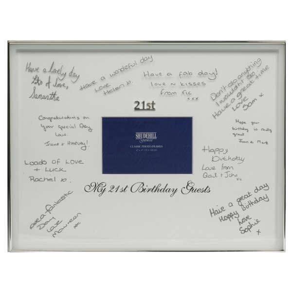 21st Birthday Signature Frame Traditional Gifts | Zavvi