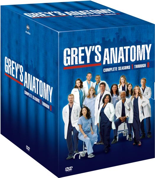 Greys Anatomy Seasons 1 8 Dvd Zavvi