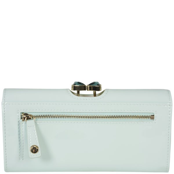 2c03c116d Ted Baker Women s Titiana Leather Bow Crystal Top Matinee Purse - Powder  Blue  Image 3