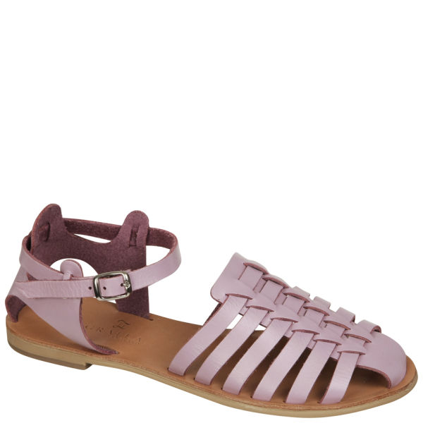 Grafea Women's Lavender Walk Leather Sandals - Lilac