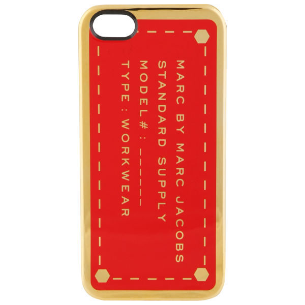Marc by Marc Jacobs Metallic Standard Supply iPhone 5 Case - Corvette Red