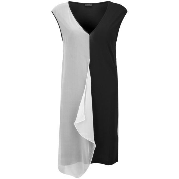 Joseph Women's Jersey and Georgette Hope Tunic - Black/White
