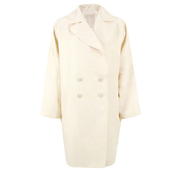 D.EFECT Women's Bobpin Spring Overcoat - Cream White