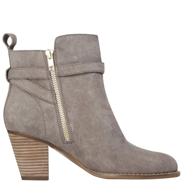 Lauren Ralph Lauren Women's Macie Heeled Leather Ankle Boots - Taupe