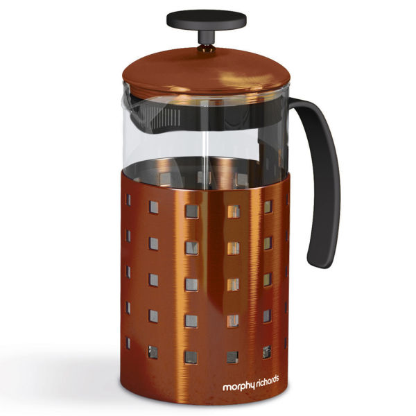 morphy richards accents 8 cup cafetiere copper homeware. Black Bedroom Furniture Sets. Home Design Ideas