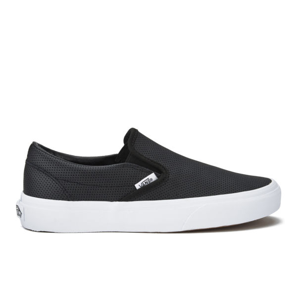 Vans Women's Classic Perforated Leather Slip-On Trainers - Black