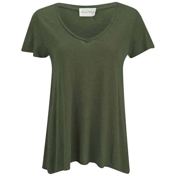 American Vintage Women's Jacksonville V-Neck T-Shirt - Herb