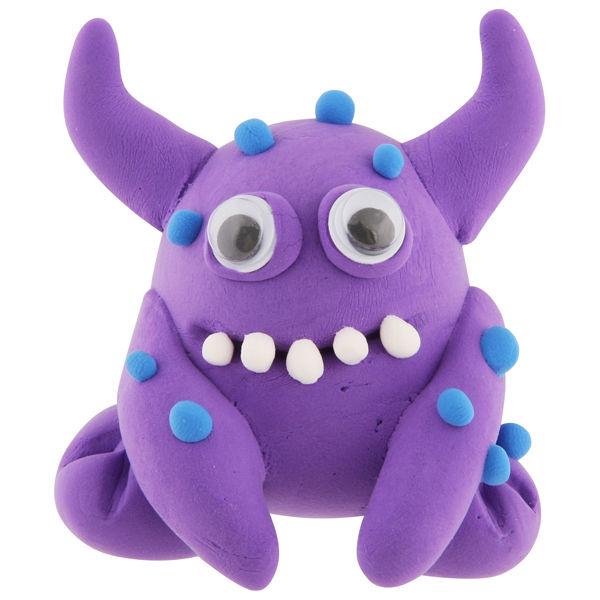 monster bunch modelling clay violet gifts zavvi