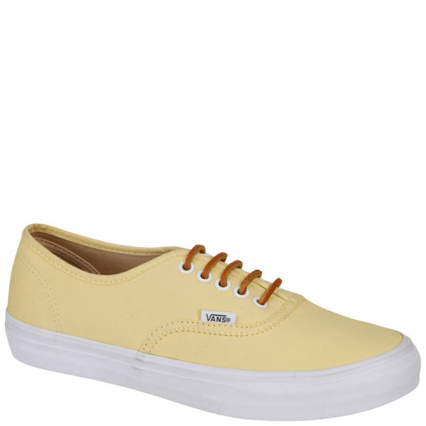 a58f89efa7 Vans Authentic Slim Brushed Twill Trainer - Sunlight Yellow  Image 1