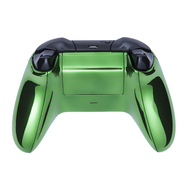 Xbox One Wireless Custom Controller - Chrome Green Games ...