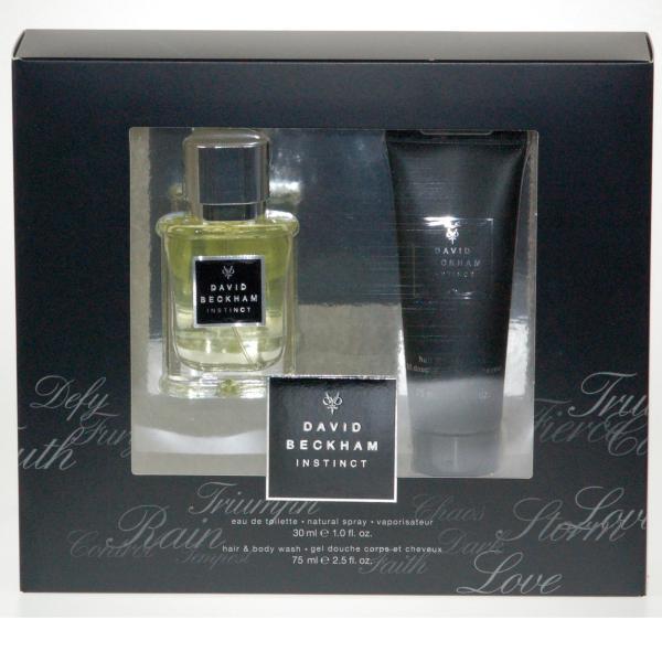 David Beckham Instinct Gift Set Eau De Toilette And Shower Gel
