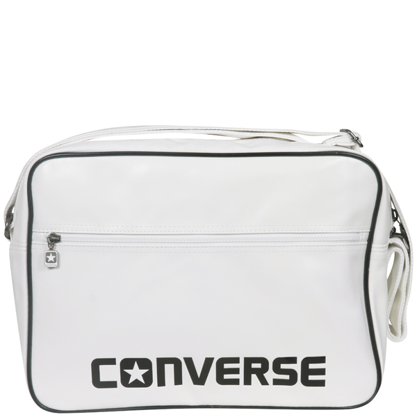 Converse Player Pu Messenger Bag In Bright White