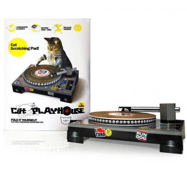 Cat Dj Scratching Deck Video
