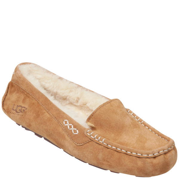 Low Shipping Fee Cheap Price UGG Women's Ansley Moccasin Suede Slippers - Chestnut - UK 4.5 - Tan For Sale Cheap Authentic Discount Shopping Online Factory Outlet Sale Best Sale c3KQ8tM