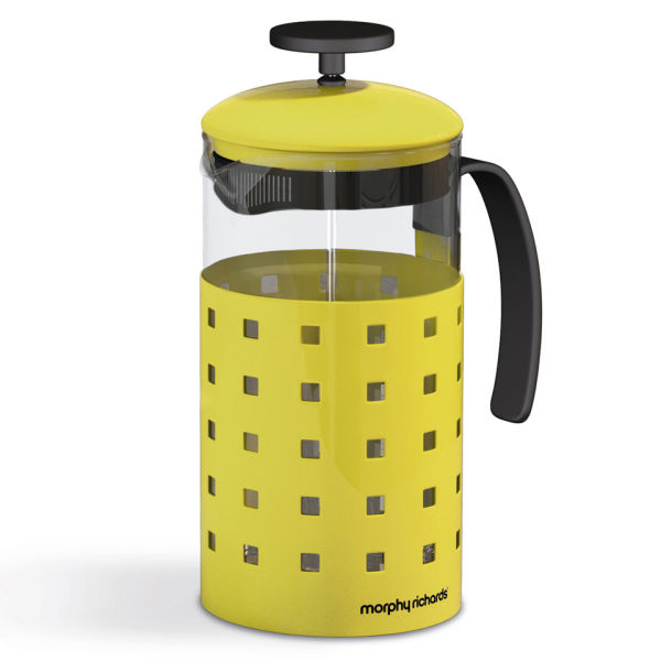 morphy richards accents 8 cup cafetiere yellow homeware. Black Bedroom Furniture Sets. Home Design Ideas
