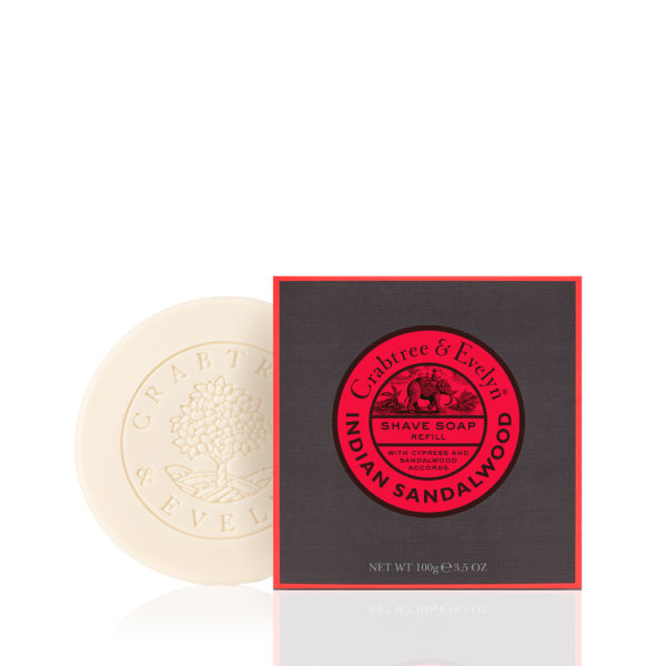 Crabtree & Evelyn Indian Sandalwood Shave Soap Refill (100 g)