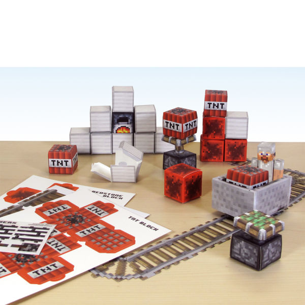 Minecraft Papercraft Over 48 Piece Sets