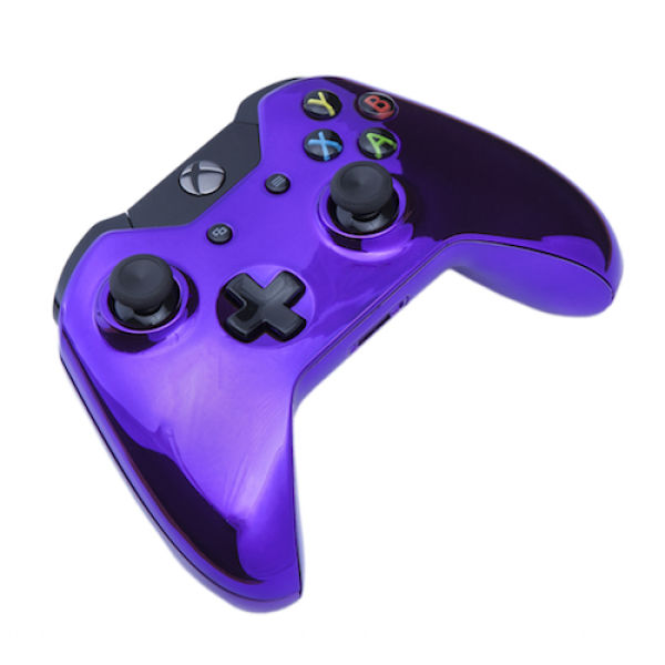 Xbox One Wireless Custom Controller - Chrome Purple Games ...
