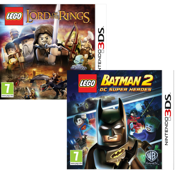 Lego Lord Of The Rings And Lego Batman 2 Dc Super Heroes Bundle Nintendo 3ds Zavvi Us