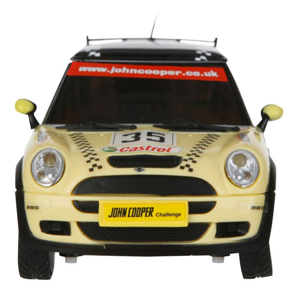 race tin mini cooper remote control car yellow and black iwoot. Black Bedroom Furniture Sets. Home Design Ideas