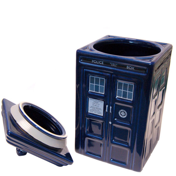 Dr who tardis ceramic cookie jar traditional gifts - Tardis cookie jar ...