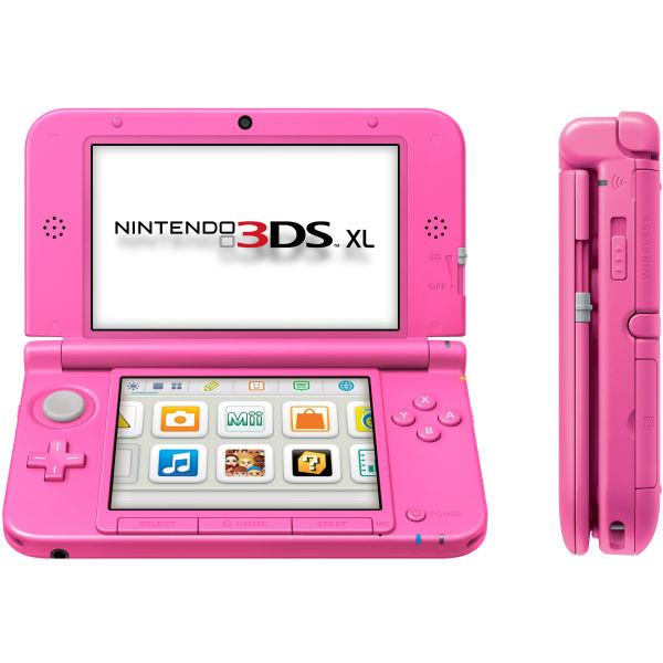 nintendo 3ds xl console pink games consoles zavvi. Black Bedroom Furniture Sets. Home Design Ideas