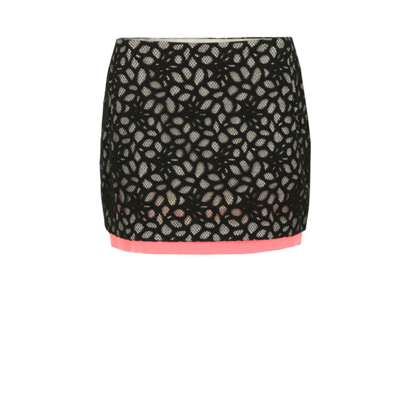 Diane von Furstenberg Women's Elley Mini Skirt - Black and Pink