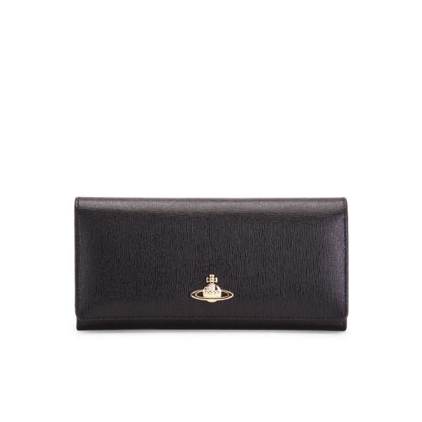 Vivienne Westwood Women's S/G Flap Over Leather Purse - Saffiano Nero