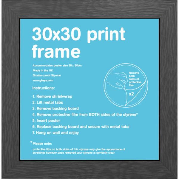 Black Frame 30 X 30cm Merchandise Zavvi