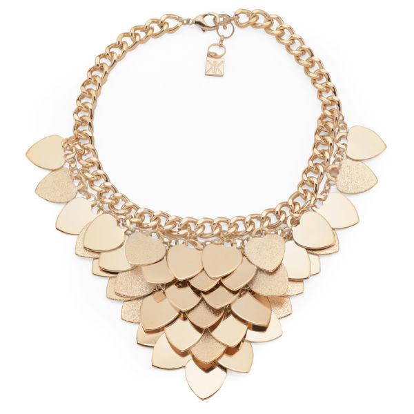 Kardashian Kollection KK Layered Heart Collar Necklace - Gold