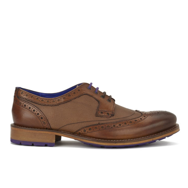 Ted Baker Men's Cassiuss 3 Leather Brogues - Tan: Image 1