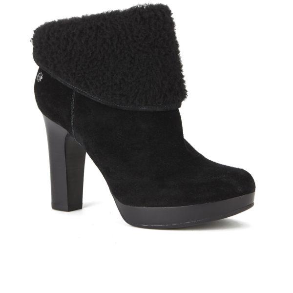 ugg s dandylion suede sheepskin heeled ankle boots