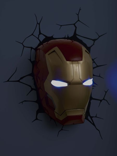 Marvel iron man 3 mask 3d light merchandise zavvi marvel iron man 3 mask 3d light aloadofball Images