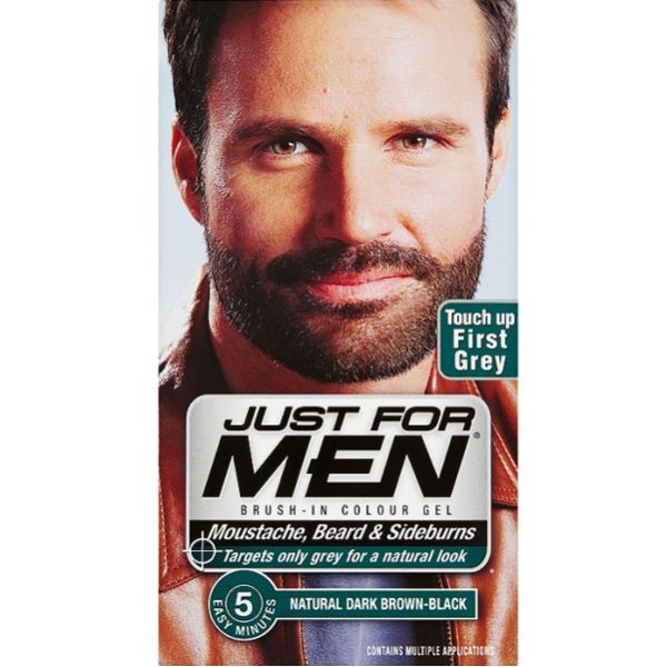 Just for Men Beard and Moustache Colour Gel Dark Brown | Free ...