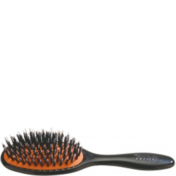 Denman Natural Bristle Cushion Brush - Small