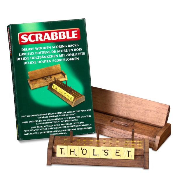 Scrabble Deluxe Wooden Scoring Racks
